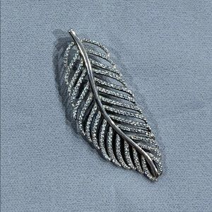 Shimmering Feather Pendant